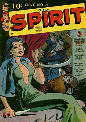 "Will Eisner's ""The Spirit"" (issue #21 from 1950 is seen here) was one of many titles that made the leap from newspapers to comic books."
