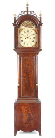 A fine tall-case clock by Joshua Wilder, Hingham, circa 1820.