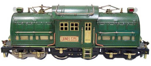 Lionel's standard gauge 381e, produced from 1926 to 1936, was the largest locomotive the toymaker had produced.