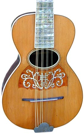 The Howe-Orme Style 6 from the turn of the 19th and 20th centuries had a Brazilian rosewood back and an abalone fingerboard.