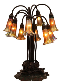 Ten light lily lamp