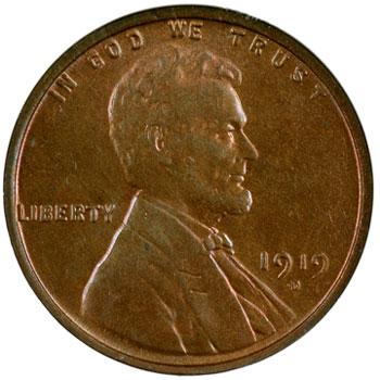1919-D Louis Eliasberg Lincoln Cent obverse