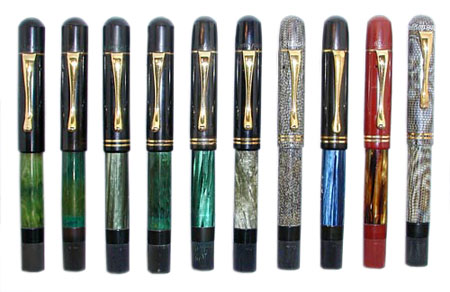 Early Pelikan 100s in various colors, 1929-1934