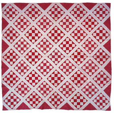 Cotton pieced Friendship quilt, maker unknown. Delaware, 1842-1844. Gift of Thomas Reed Clayton and family.