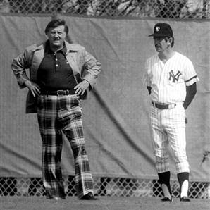 George Steinbrenner with his embattled manager, Billy Martin.