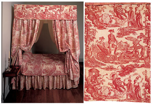 Cotton wholecloth quilt, maker unknown. England or United States, 1780-1800.