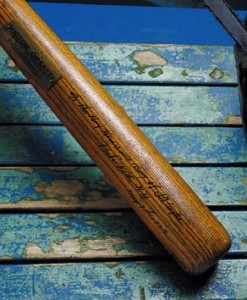 Babe Ruth used this bat to hit his first home run at Yankee Stadium. Sotheby's sold it for $1.25 million.