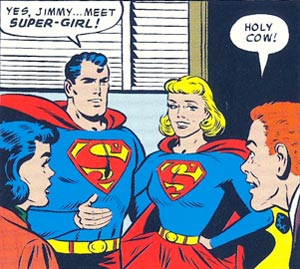 "Jimmy Olsen spoke for a lot of comic-book fans when Supergirl appeared in a 1958 edition of ""Superman."""