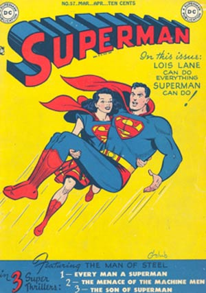 In 1949, Superman time-travels into the future, where he meets a superheronine who looks a lot like Lois Lane.