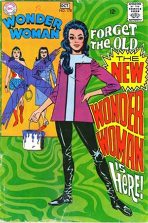 In the fall of 1968, Wonder Woman was given a new, Mod, Carnaby Street look.