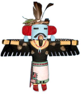 A Kwahu or eagle katsina, by Charles Fredericks.