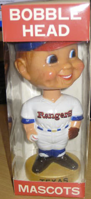 A Texas Rangers bobblehead from 1972.