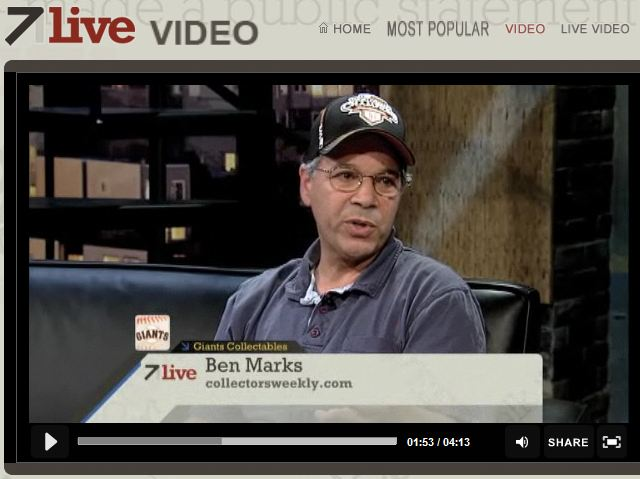 Collectors Weekly's Ben Marks on ABC-TV Discussing Baseball Memorabilia