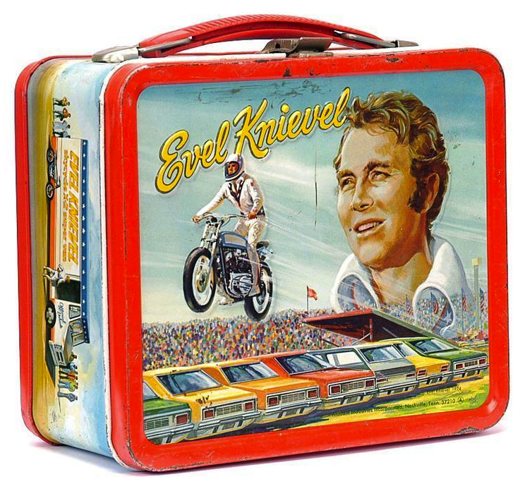 Sometimes to get on a lunch box, you didn't need your own TV show, you just had to be famous like Evel Knievel.