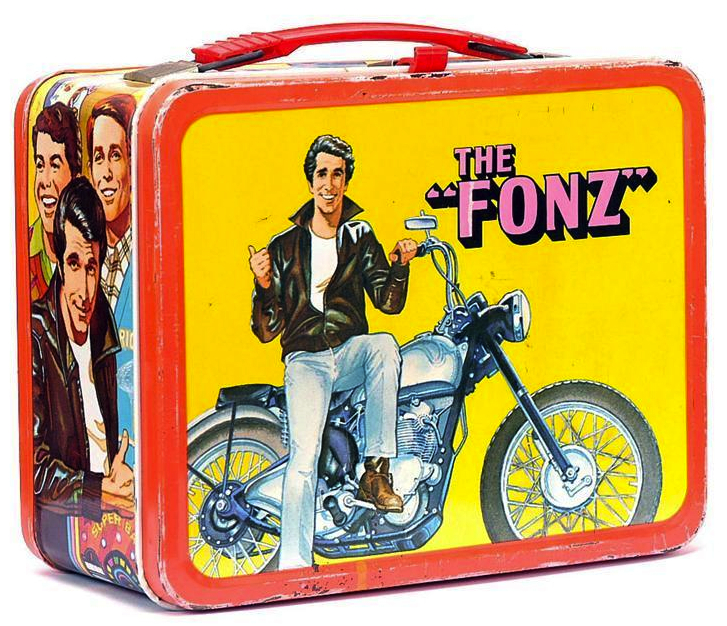 "In the 1970s, ""Happy Days"" got its own lunch box, as did its biggest star, the Fonz."