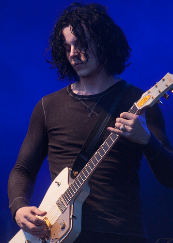 Jack White performing at the Cisco Ottawa Bluesfest in 2009. Photo by Scott Penner.