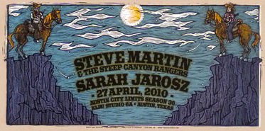 The name of Steve Martin's band inspired the imagery on this poster.