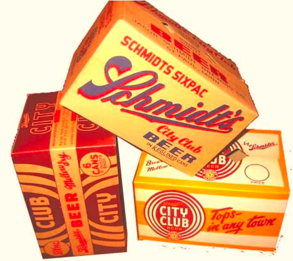 Vintage regional beer boxes