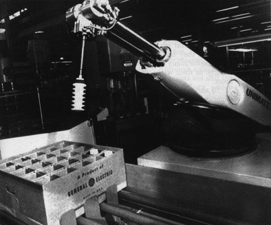 The Unimate was a robot arm that weighed 4,000 pounds. It was added to the General Motors assembly line in 1961.