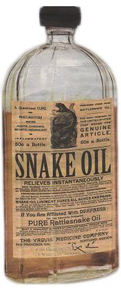 A  snake oil salesman ...