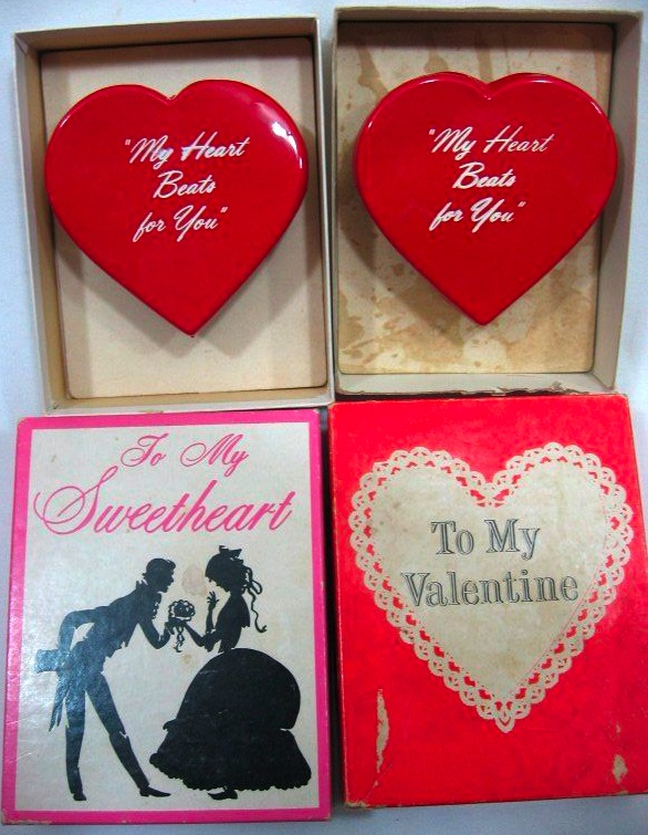 Vintage gag box valentines, for that special sweetheart with a sense of humor.