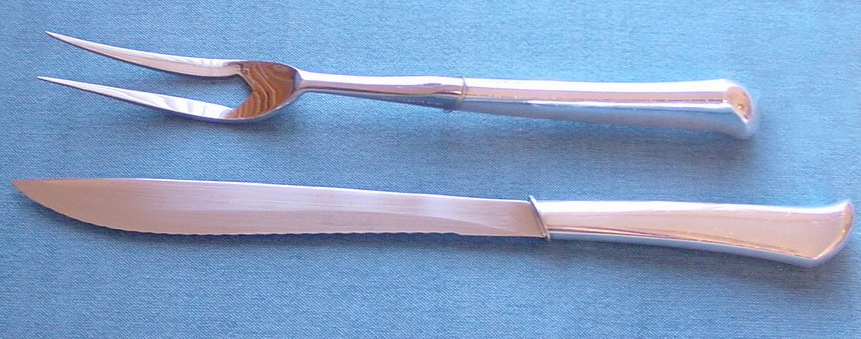 """This carving set from the 1960s includes the fork Christina Ricci's character in """"Pan Am"""" used to fend off a tipsy passenger."""