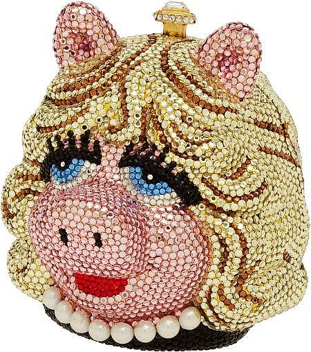 This Swarovski-studded Miss Piggy minaudiere was designed by jeweler to the stars, Kathrine Baumann.