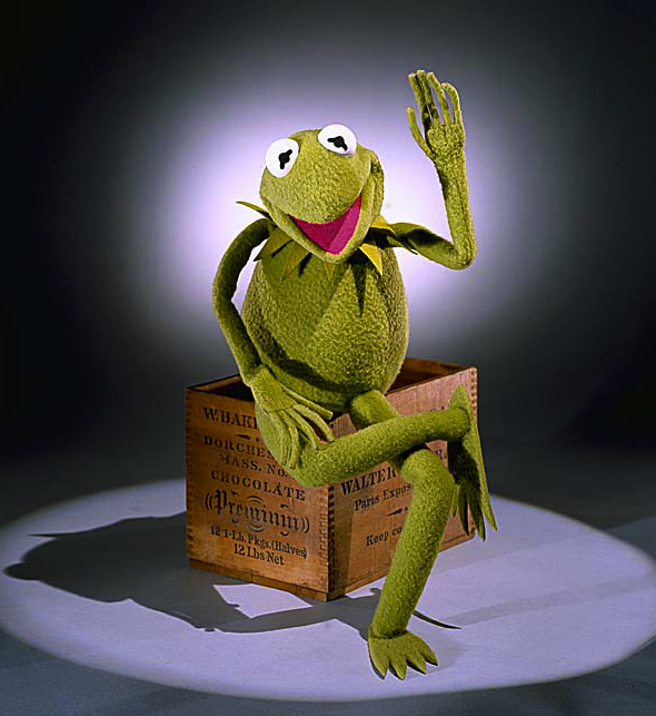 "The ""Sesame Street"" era Kermit has a crenellated collar and flipper feet."