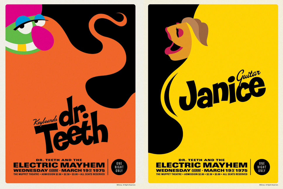 Michael De Pippo's retro Electric Mayhem posters created a sensation on the Internet.
