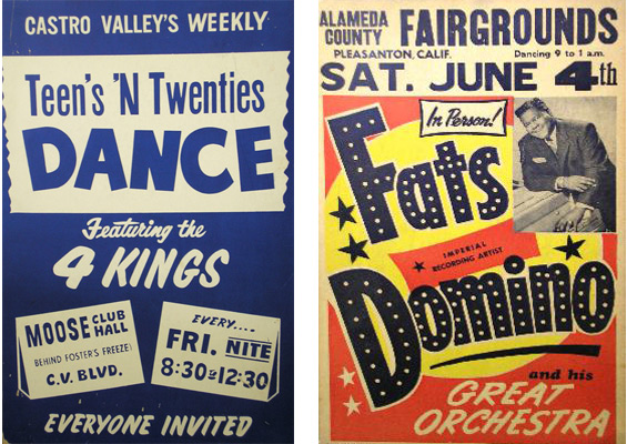 Quarry got his start producing Teens 'N Twenties dances at the Moose Club in Castro Valley. In the late-1950s, Quarry helped promote shows such as this one with Fats Domino.