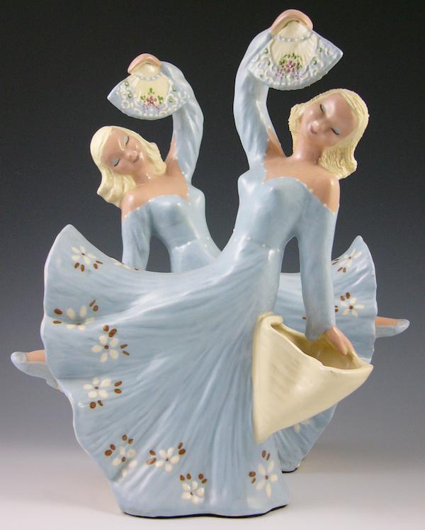 "Hedi Schoop's ""Blue Dancers"" were sold as a pair."