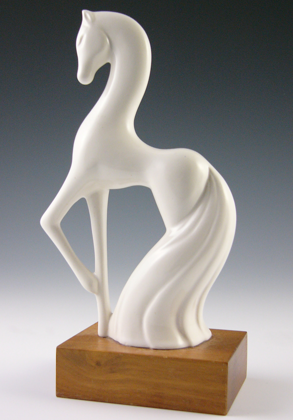 "Roselane figurines, like this one called ""Fantasy Horse,"" are known for their elongated limbs."