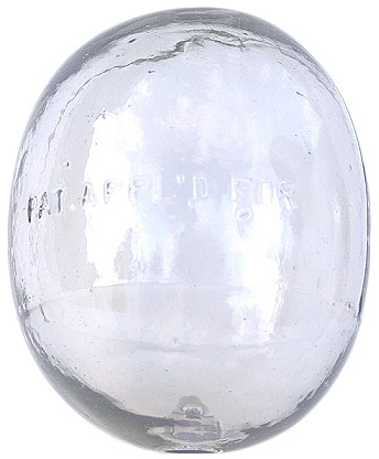 Top: A C.D. Argent float. Above: This float show evidence of being hand blown and is possibly from the late 1800s.