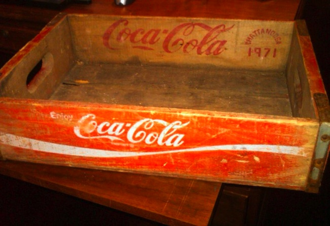 James, 13, found this 1971 Coca-Cola crate in Bristol, Tennessee.