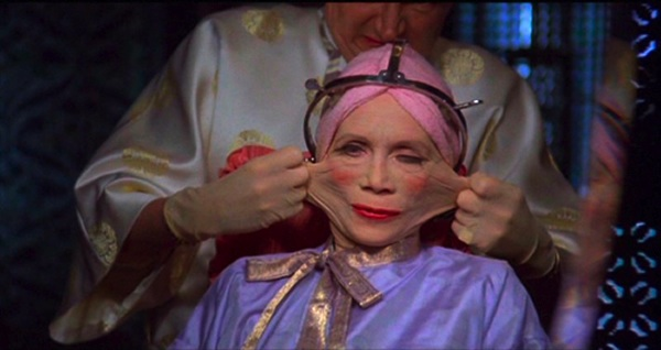 "A plastic surgery scene from the 1985 dystopian comedy ""Brazil."""