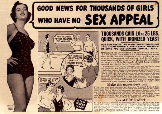 "An ironized yeast ad from ""True Romance,"" July 1937. Via WorldofWonder.net."