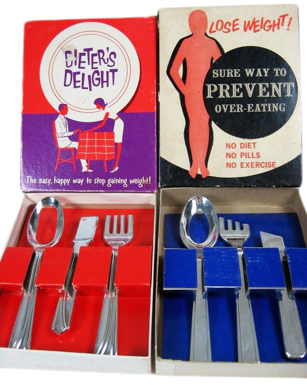 During the '50s, gag boxes about dieting were often geared toward women.