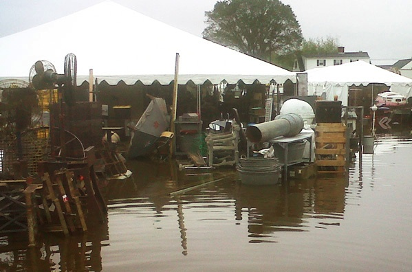 Last September, dealers lost thousands of dollars in inventory—and historic artifacts—thanks to Hurricane Irene. Photo by Maureen Stanton.