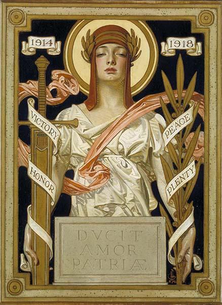 victory  peace kuppenheimer poster design 1918