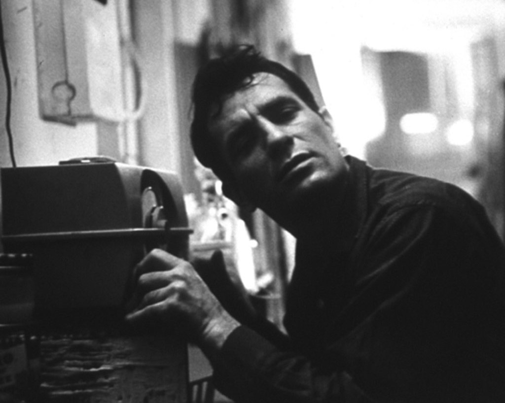 Jack Kerouac listens to himself read on the radio in 1959.