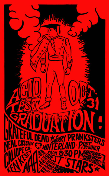 This show, whose poster was created by a Hells Angel and Merry Prankster who went by the name Gut, was canceled by rock promoter Bill Graham.