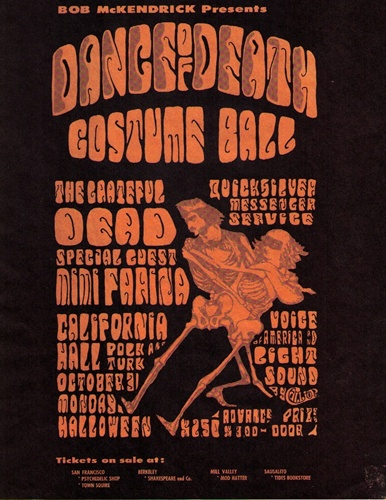 The Dance of Death Costume Ball was held on the same night as the acid test graduation ceremony in 1966.