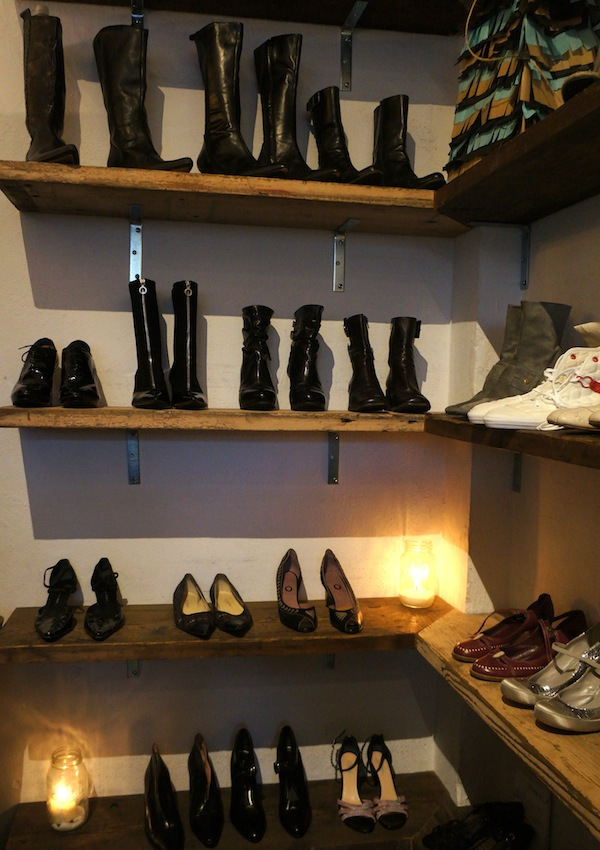 Kim Gordon's footwear on display at Mercy Vintage Now. Photo by Megan Bre Camp.