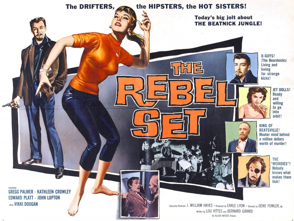 "A poster for the film ""The Rebel Set"" from 1959 capitalizes on the popular beatnik craze."