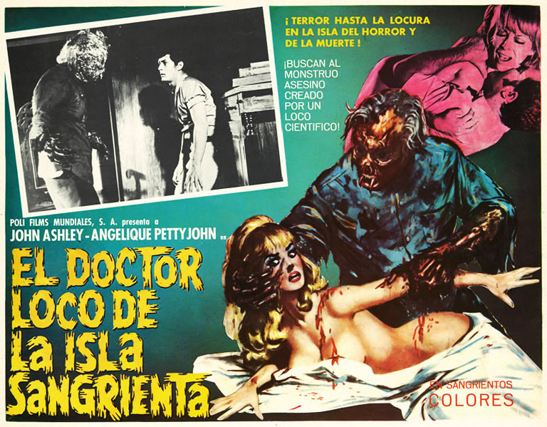 "1968's ""El Doctor Loco De La Isla Sangrienta,"" also known as ""The Mad Doctor of Blood Island,"" shows a particularly disturbing juxtaposition of graphic violence and sexuality."
