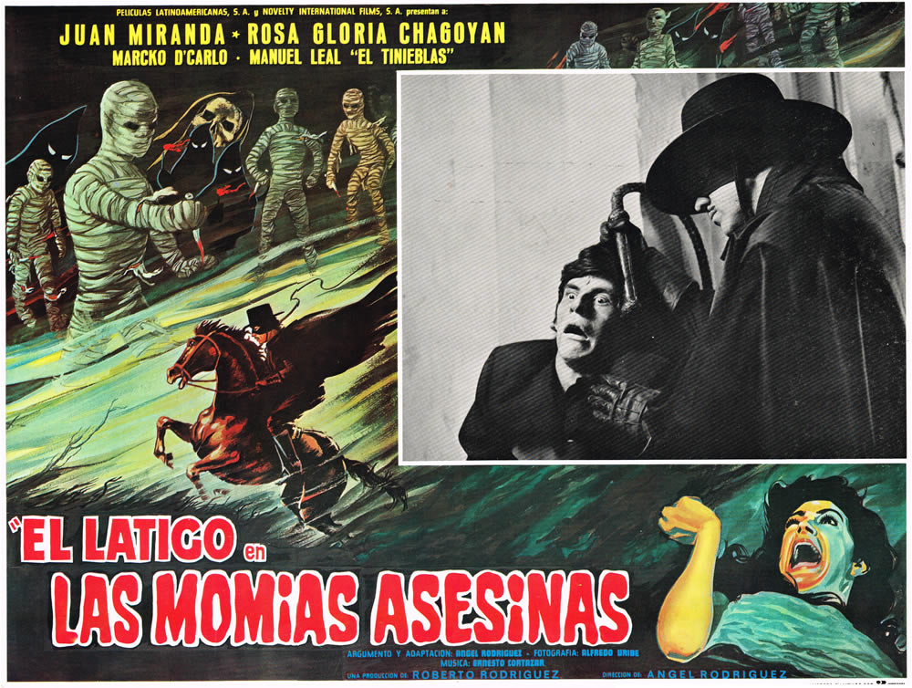 "Cozzoli appreciates the complexity of lobby cards like 1979's ""Las Momias Asesinas,"" or ""The Mummy's Killer,"" which featured a recurring character called ""El Latigo,"" or ""The Whip."""