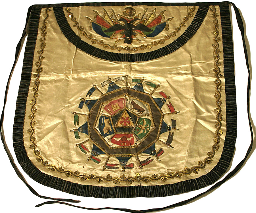 This is the 32nd degree Scottish Rite apron of Venezuelan president Simón Bolívar from the 19th century. Via Phoenixmasonry.org.