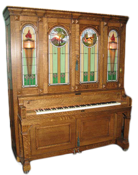 A Seeburg G made in 1913 with a Seybold piano. Photo courtesy of Reblitz.