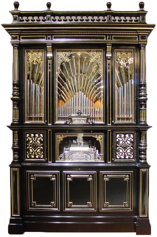 Durward R. Center of Baltimore, Maryland, restored this Welte Style #6 Concert Orchestrion from 1895. Photo by Center.