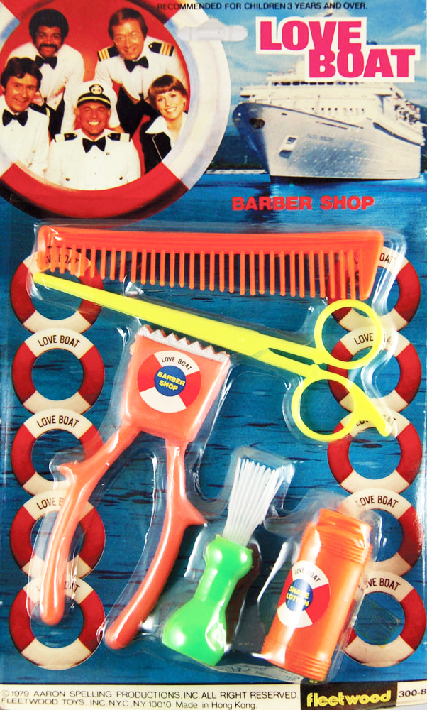 "The infamous ""Love Boat"" barber kit."